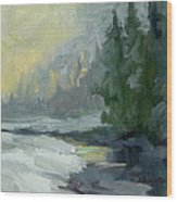 Winter At Gold Creek Wood Print