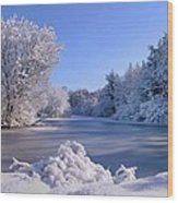Winter At Lake Marmo Wood Print