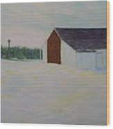 Winter At Mcphersons Barn Gettysburg Wood Print