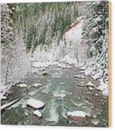 Winter At Mt Hood Wood Print