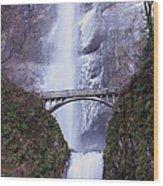 Winter At Multnomah Falls Wood Print