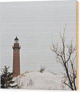 Winter At Silver Lake Wood Print