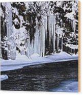 Winter At The Creek Wood Print