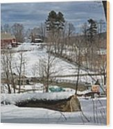 Winter At The Gmha II Wood Print