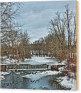 Winter At The Mattabeset River Wood Print