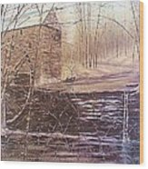 Winter At Wolf Pen Mill Wood Print