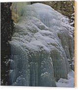 Winter At Zapata Falls Wood Print