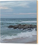 Winter Beach Day Lavallette New Jersey Wood Print
