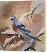 Winter Bird Wood Print