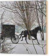 Winter Buggy Wood Print