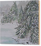 Winter Chill St Lawrence River Wood Print