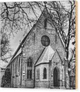 Winter Church Wood Print