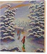 Winter Comfort Wood Print