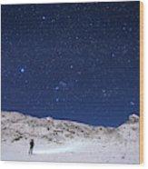 Winter Constellations Wood Print
