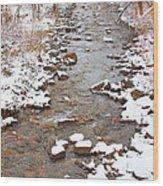 Winter Creek Scenic View Wood Print