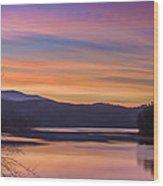 Winter Daybreak At Ocoee Lake Wood Print by Paul Herrmann