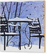 Winter Days Wood Print