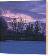 Winter Evening In Grants Pass Wood Print
