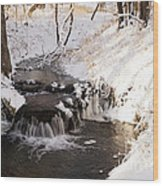 Winter Falls On Big Stone Lake  Wood Print