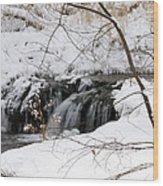 Winter Falls On Big Stone Lake Mn Wood Print