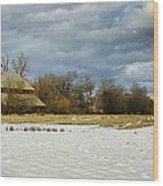 Winter Farm Wood Print by Steve McKinzie