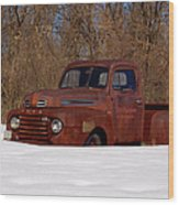 Winter Ford Truck 3 Wood Print