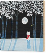 Winter Forest Wood Print
