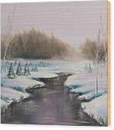 Winter Freeze Wood Print