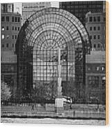 Winter Garden At World Trade Financial Center New York City Wood Print