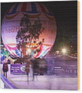 Winter Gardens Ice Rink And Balloon Bournemouth Wood Print