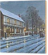 Winter Glow Parish Room Tickhill Yorkshire Wood Print