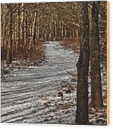 Winter Gold Wood Print