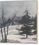 Winter Grey Wood Print