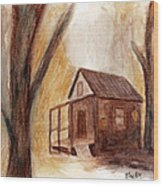 Winter Hideaway Wood Print by Andrea Friedell