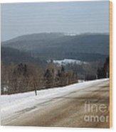 Winter Hillsides Wood Print