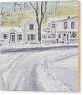Winter Holidays In Dixboro Mi Wood Print