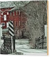 Winter Home Wood Print by Sharon Costa