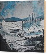 Winter In Ancient Ruins Wood Print