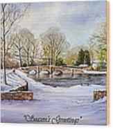 winter in ashford Derbyshire Wood Print