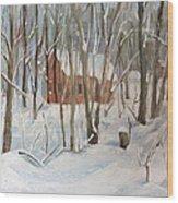 Winter In Campton New Hampshire Wood Print