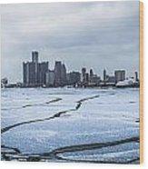 Winter In Detroit  Wood Print
