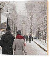 Winter In London Wood Print