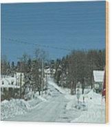 Winter In Maine Wood Print