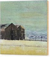 Winter In Montana Wood Print