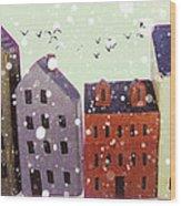 Winter In Nantucket Wood Print