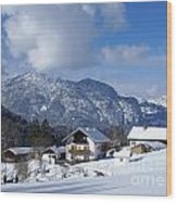 winter in the Bavarian alps 1 Wood Print