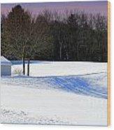 Winter In The Berkshires Wood Print