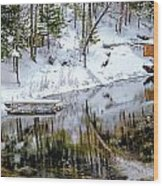 Winter In The Up Wood Print