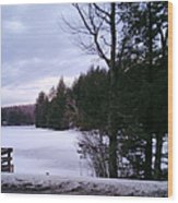 Winter In Vermont Wood Print