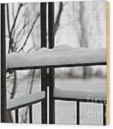 Winter Ironwork Wood Print